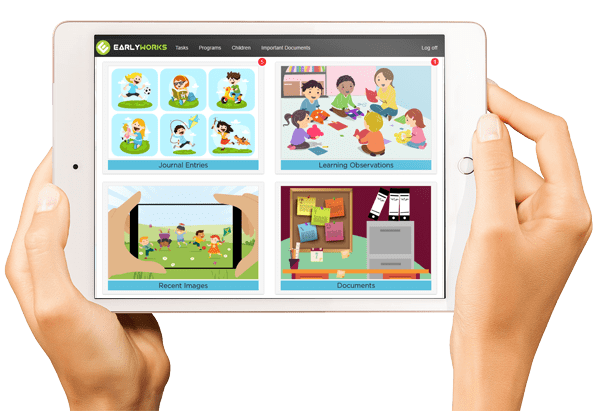 earlyworks Ipad app for Daycare Centres